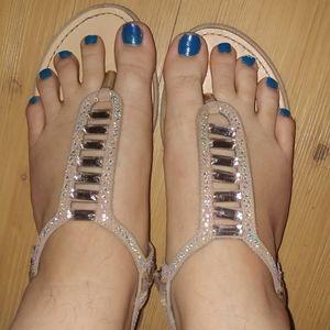 Madden girl   nude gem sandals